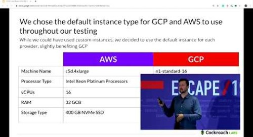 ESCAPE Conference 2019: Benchmarking the Cloud -- Andy Woods, Cockroach Labs
