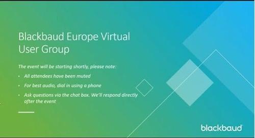 Blackbaud Europe Virtual User Group