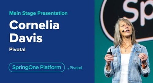 Cornelia Davis at SpringOne Platform 2019-  Welcome