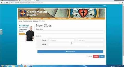 Confirmation Builder Overview Webinar