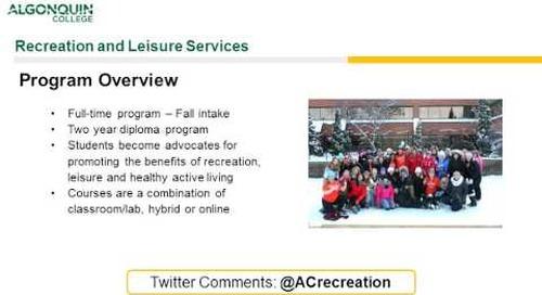 Rec and Leisure Webinar