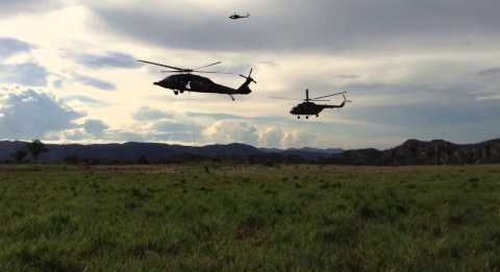 Colombian Army looks towards future operations - air assault exercise, Telemaida Air Base