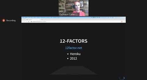 Tanzu Tuesdays - 15 Factor Applications on Kubernetes with DaShaun Carter