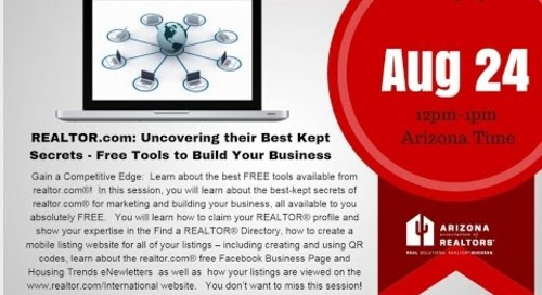 REALTOR.com Best Kept (FREE) Secrets 8.24.2016