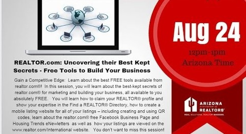 REALTOR.com Best Kept (FREE) Secrets 8.24.2016