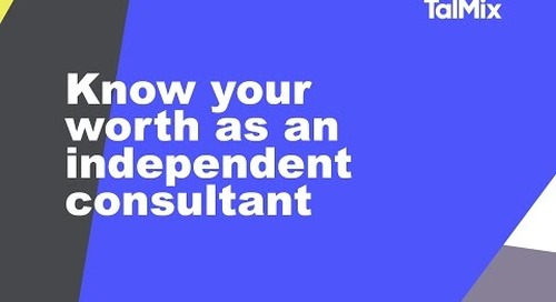 Know Your Worth: How to value yourself as an independent consultant
