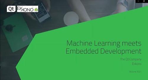 Machine Learning meets Embedded Development {On-demand webinar}