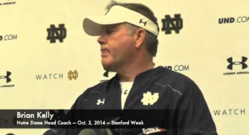 Notre Dame's Brian Kelly - 10/2/14 - Stanford