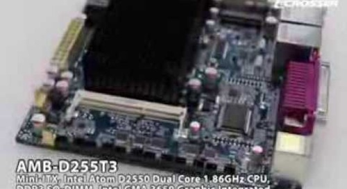 Acrosser's cost-effective Mini-ITX SBC for diverse industrial application: AMB-D255T3.