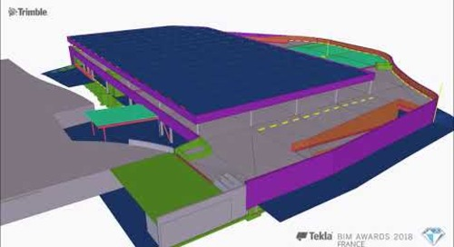 Tekla France BIM Awards 2018 - BETREC : Parking Super U
