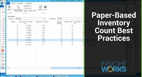 Paper-Based Inventory Count Best Practices