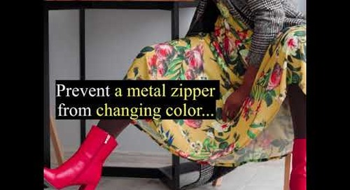How- to Series: To prevent a metal zipper from changing color