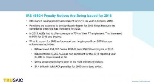 How Big can IRS ACA Penalty Assessments be - Webinar - Trusaic