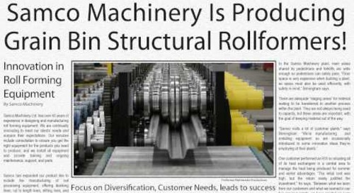 Samco Machinery Video News - Grain Bin Product Rollformers!