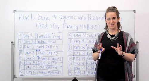 How to Build an Outbound Sequence with Personalization (ft. Becc Holland)
