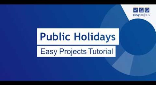 Public Holidays in Project Calendar - Easy Projects Tutorial