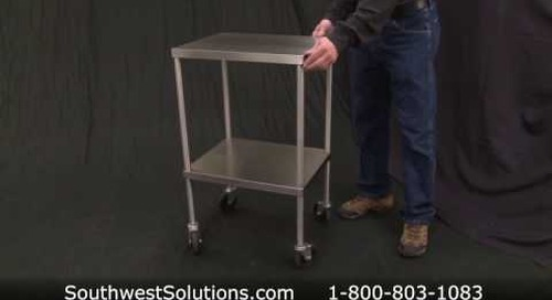 Stainless Steel Sterile Instrument Tables OR Hospital Surgical Tool Storage