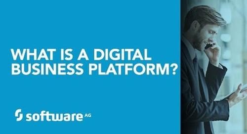 Software AG CTO Wolfram Jost explains what a digital platform is