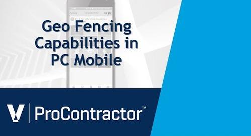 ProContractor GeoFencing Capabilities in PC Mobile