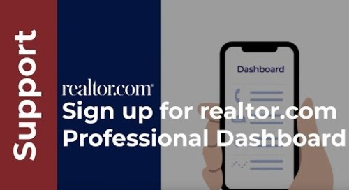 How to sign up for your realtor.com® professional dashboard