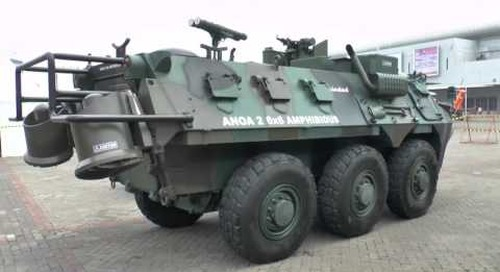 Indo Def 2016: Anoa 2 6x6 amphibious vehicle