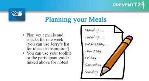 Providence Health Coaching Program | Lesson 8: Shop and Cook to Prevent T2
