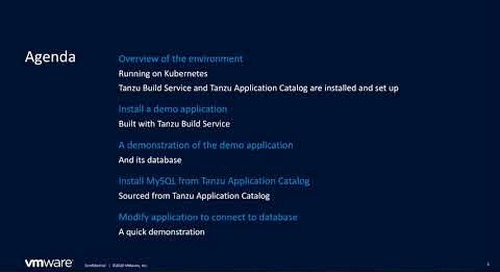 Improving Container Security with VMware Tanzu Build Service and VMware Tanzu Application Catalog