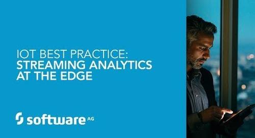IoT Best Practice: Streaming Analytics at the Edge