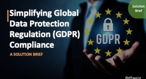 Solution Brief: Simplifying General Data Protection Regulation (GDPR) Compliance (Paxata)