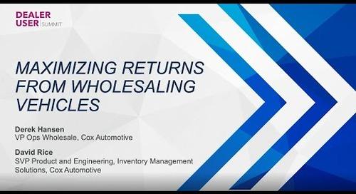 Fall Expo 2021 Replay | Maximizing Returns on Wholesale Vehicles | vAuto