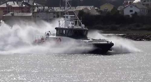 Pruebas embarcacion Guardia Civil Rio Jallas. Ria de Navia