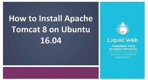 How To Install Apache Tomcat 8 on Ubuntu 16.04