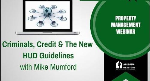 Criminals, Credit & The New HUD Guidelines 10.26.2016