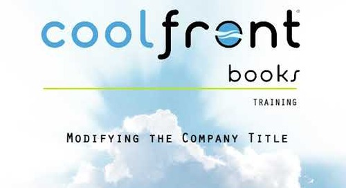 Coolfront Books - Change the Company Title