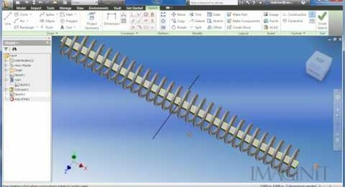 Curved Spring with Autodesk Inventor