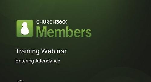 Church360° Members Enter Attendance