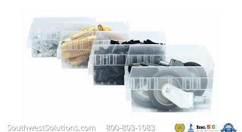 Plastic Stacking Bins Totes Small Parts Storage Organization