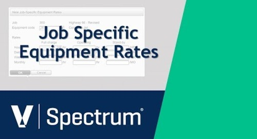Spectrum Job Specific Equipment Rates