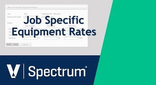 Spectrum Job Specific Equipment Rates