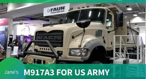 AUSA 2018: Mack Defense M917A3 Heavy Dump Truck for US Army