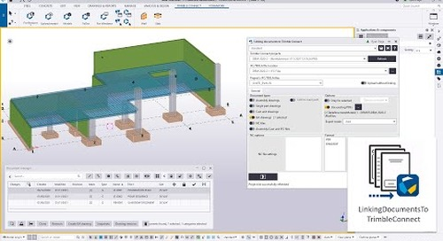 Linking Drawings to Trimble Connect for Concrete Models