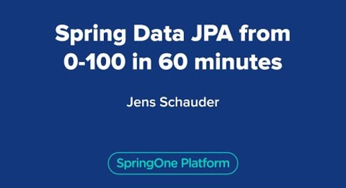 Spring Data JPA from 0-100 in 60 minutes