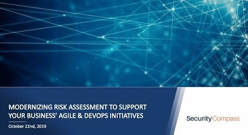 Modernizing Risk Assessment to Support Your Business' DevOps