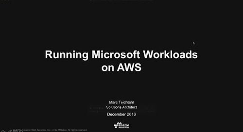 Running Microsoft workloads on AWS