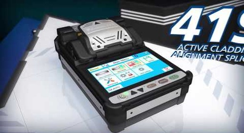 Fujikura 41S Splicer with Bluetooth Enabled CT50 Fiber Cleaver