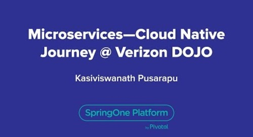 Microservices - Cloud Native Journey @ Verizon DOJO