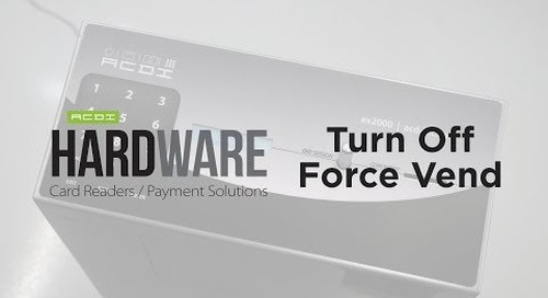 Turn Off Force Vend | ACDI Hardware