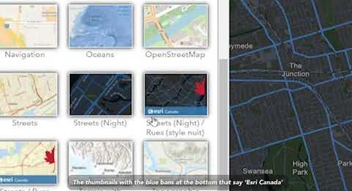 Accessing the Community Map of Canada through ArcGIS Online