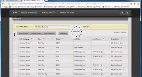 Trimble Asset Manager - Using Search Filters