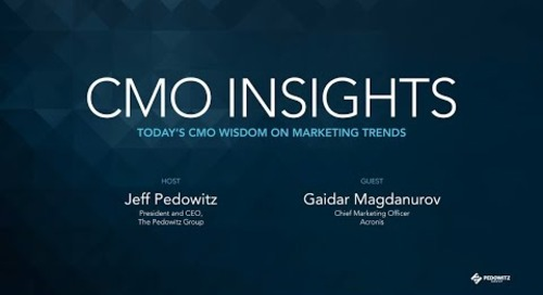 CMO Insights: Gaidar Magdanurov, CMO of Acronis
